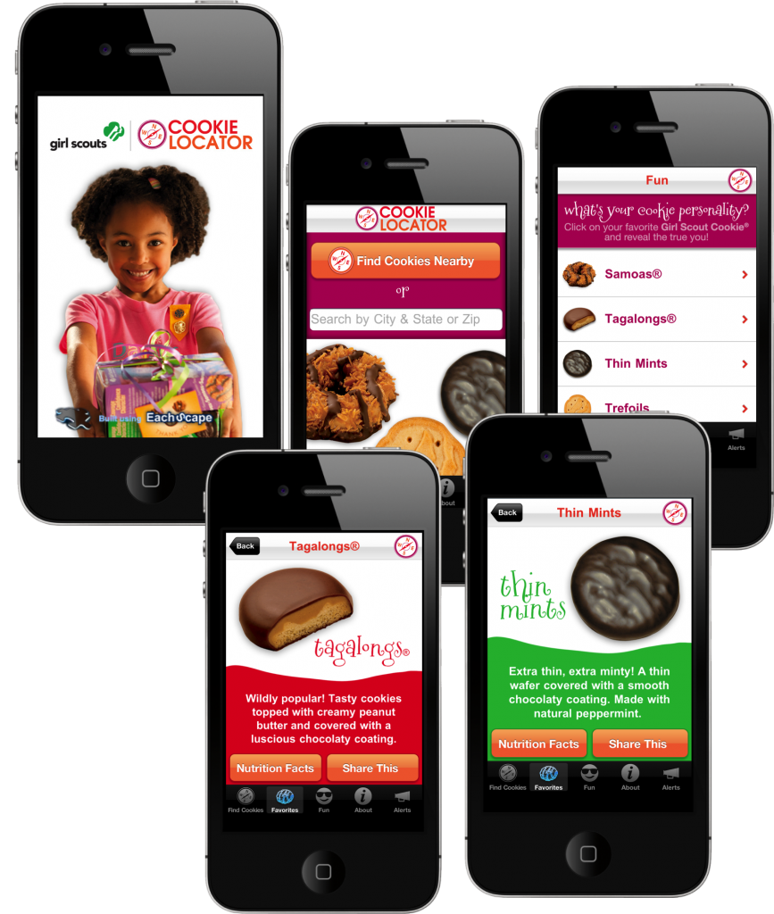 EachScape mobile app for girl scouts cookie