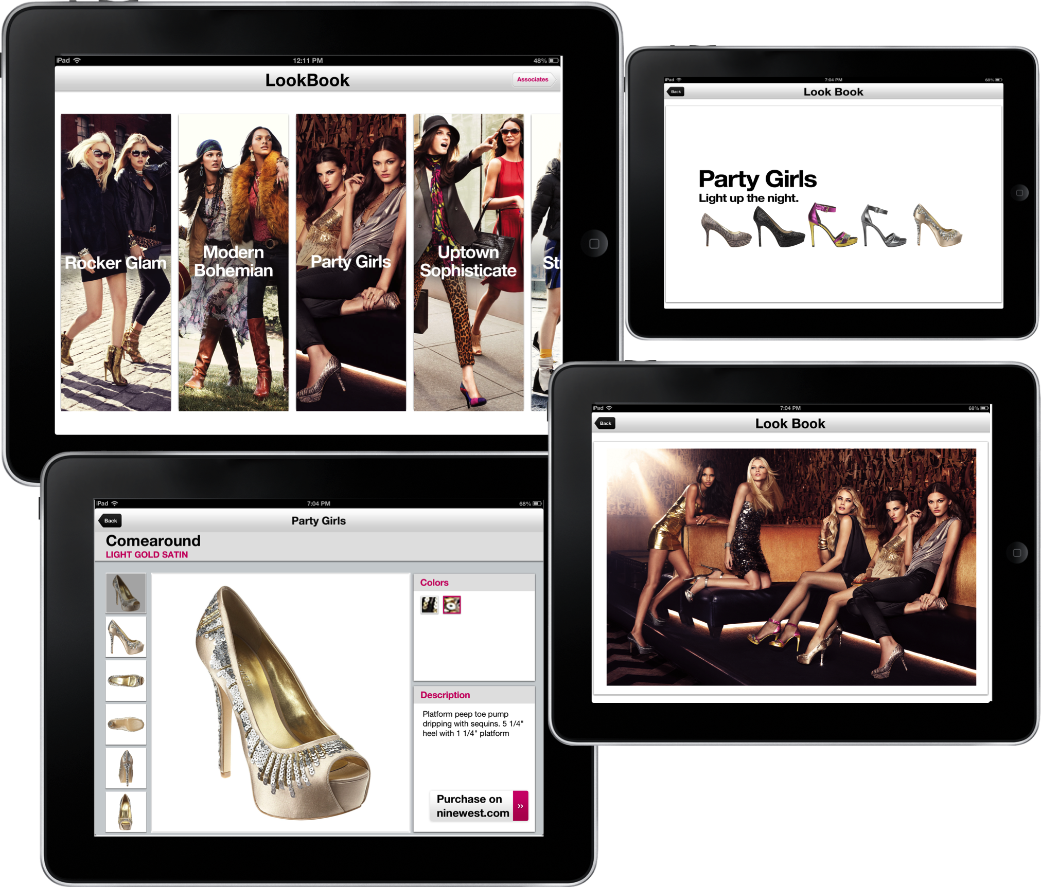 EachScape mobile app for Nine West