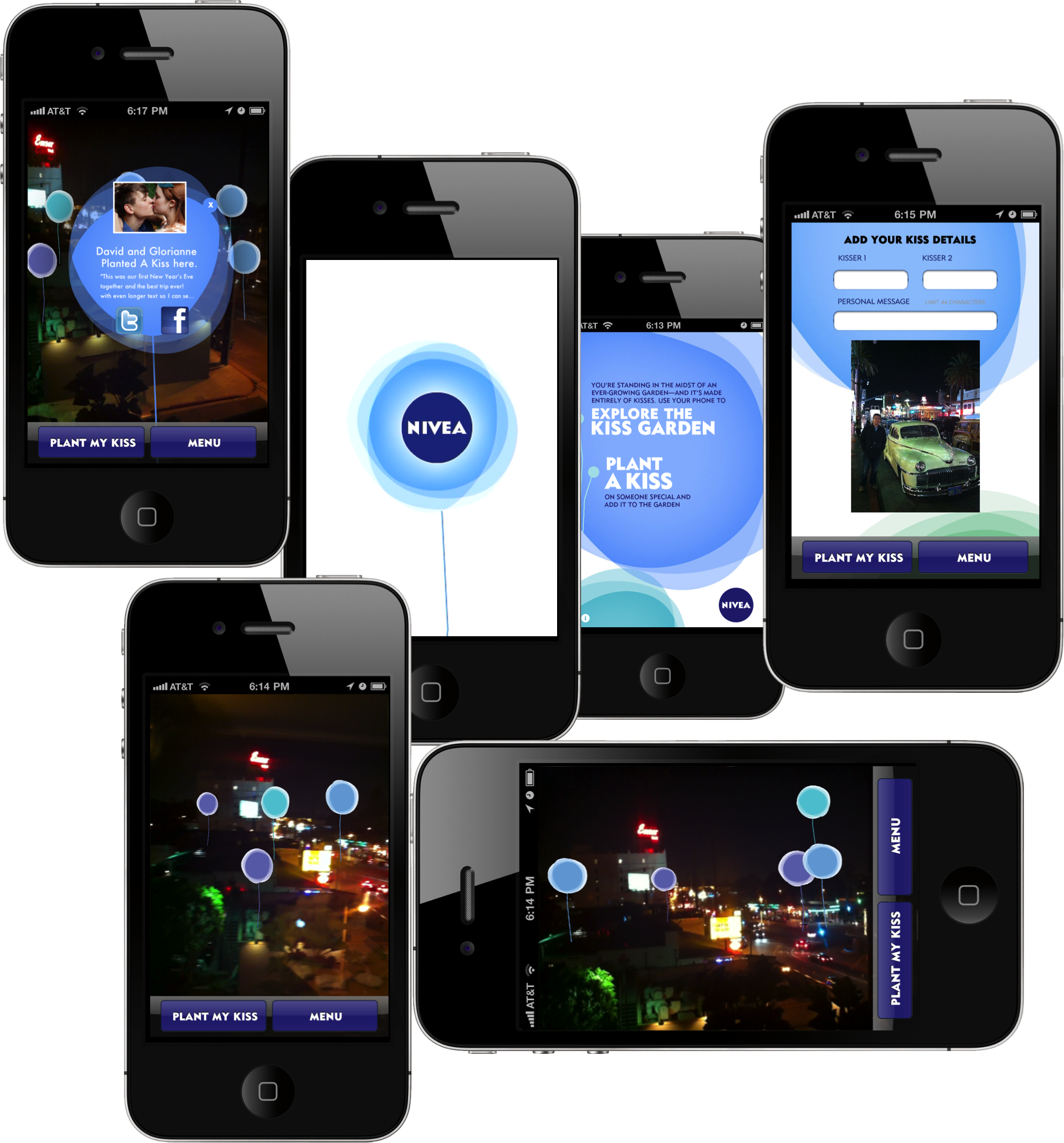 EachScape AR mobile app for Nivea