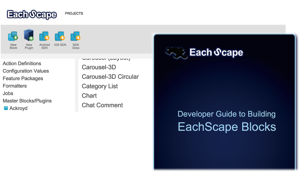 EachScape studio - developer guide to building EachScape Blocks