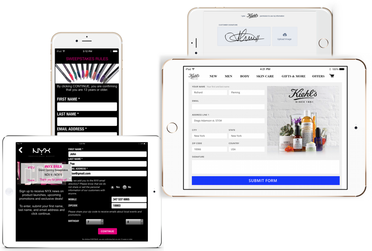 Retail technology customer capture mobile app