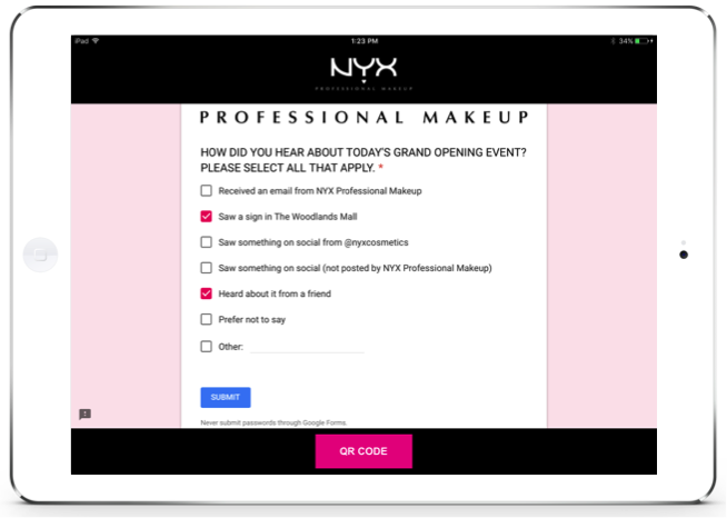 L'Oréal Retail technology customer capture mobile app