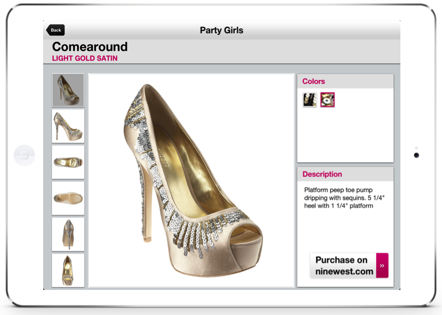 NineWest lookbook retail app