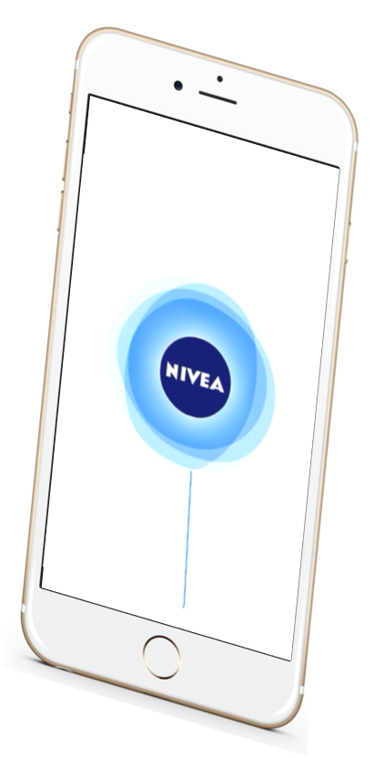 Nivea mobile app running on IOS
